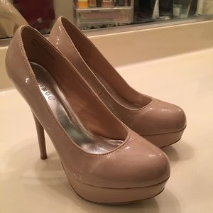 Shiny Nude High Heels